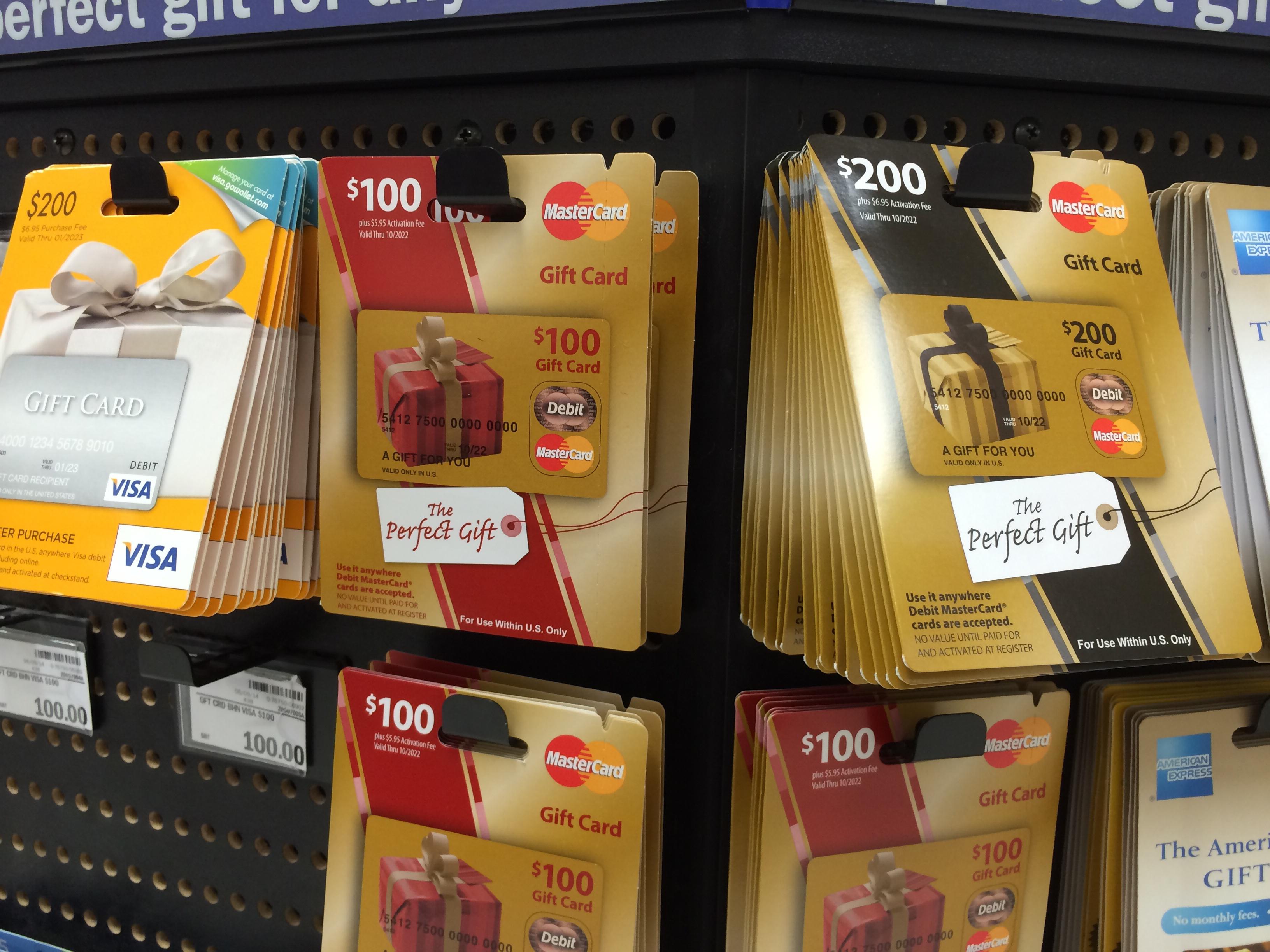 Prepaid Visa & Mastercard Gift Cards